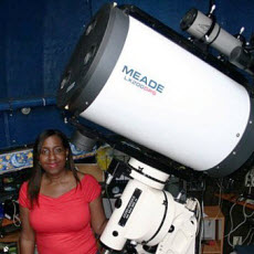 Amateur astronomer Barbara Harris