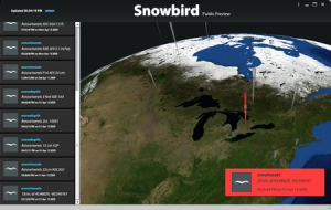 Screenshot of the SnowTweets Website