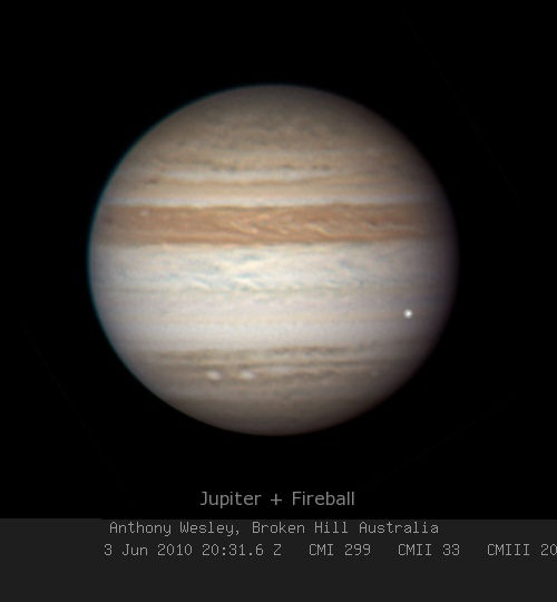 Amateur Astronomers Sport Giant Fireball on Jupiter