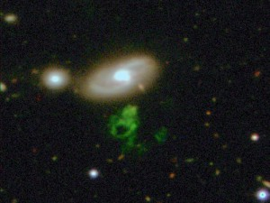 "Dutch schoolteacher Hanny van Arkel, discovered the strange green ""voorwerp"" (Dutch for ""object"") in 2007. (Photo: NASA)"