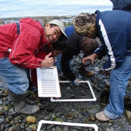 High school students participating in a 15-year program to monitor intertidal areas in Central Puget Sound give PPSR a thumbs-up.