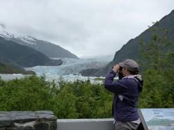 Scouting for arctic terns at Mendenhall Glacier (Kate Atkins)