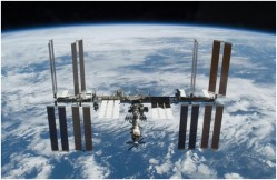 Photo of the International Space Station, where one of the many collaborators participated in the event. Photo:NASA.