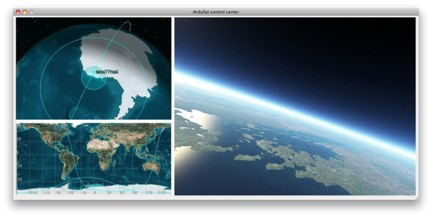 Image of the ArduSat Online Control Center where you can view the location and current camera views in real-time.