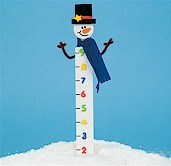 Make your own snow ruler!
