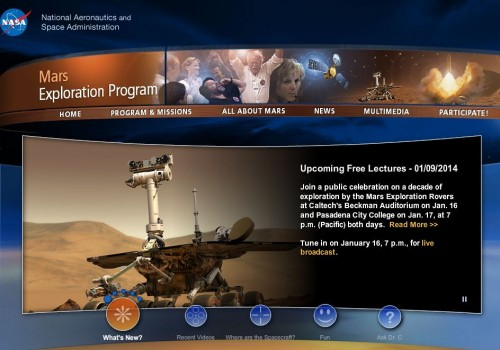 Mars Rover main page