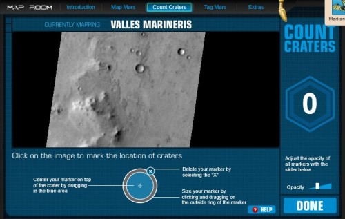 Mars counting craters