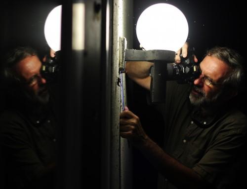 John Pickering, aka Pick, photographing moths.