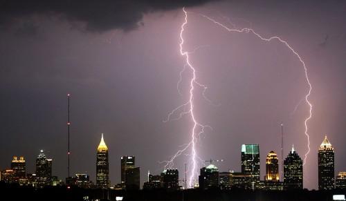 """""""Atlanta Lightning Strike"""" by David Selby Licensed under CC BY-SA 3.0 via Wikimedia Commons."""