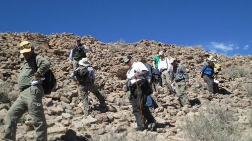 Stewards monitoring site on the Santa Fe National Forest (Credit: Santa Fe National Forest)
