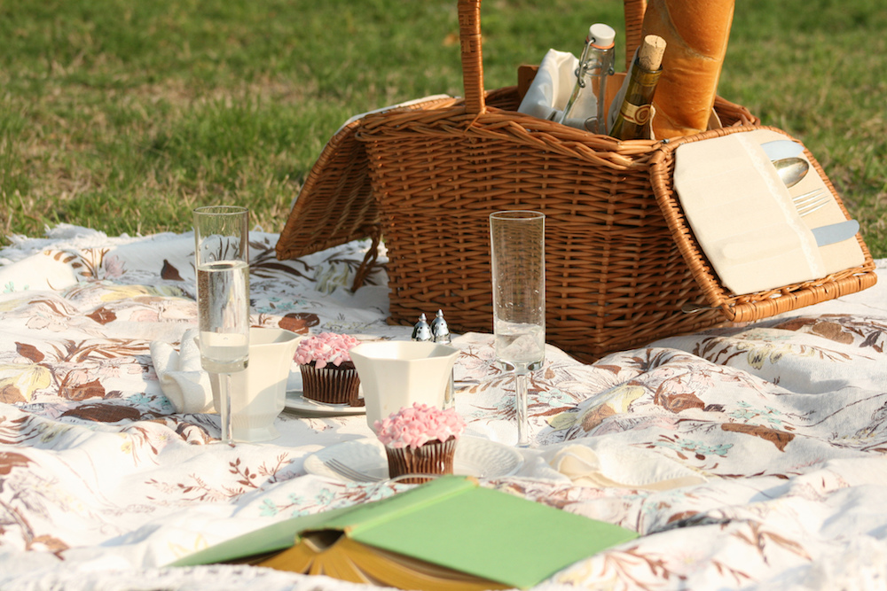 Picnic Blanket and Basket by Amy Liscomb (CC BY-NC-ND 2.0)