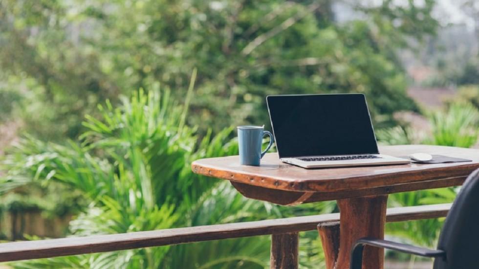 desk outside