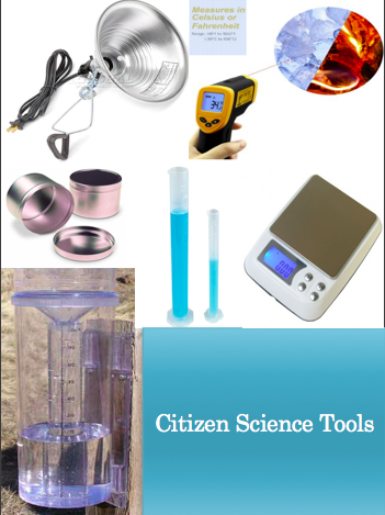 pictures of citizen science tools.