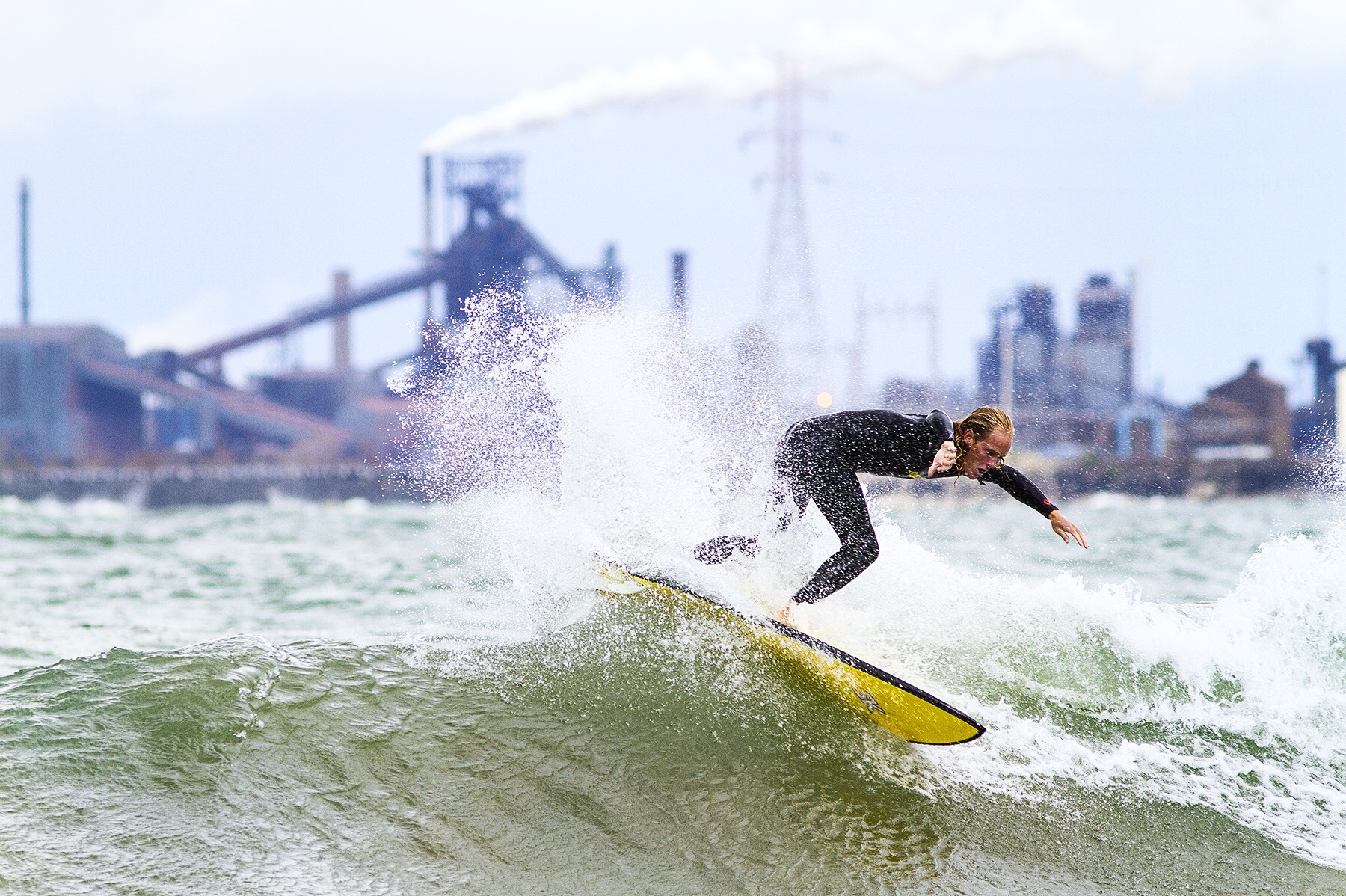 surfer on great lakes water pollution